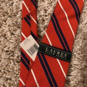 Orange striped tie